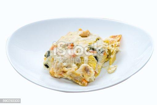 Seafood Lasagna Lasagna To The Taste Of The Sea-foton och fler bilder på Aperitif - Måltid