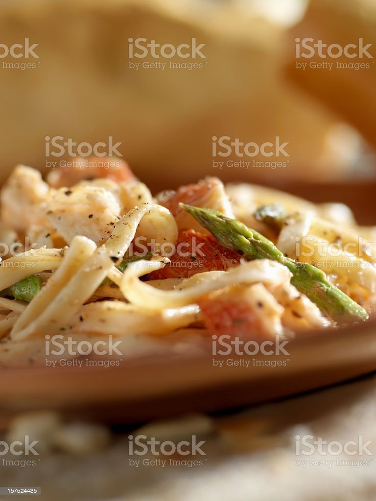 Seafood Linguini royalty-free stock photo