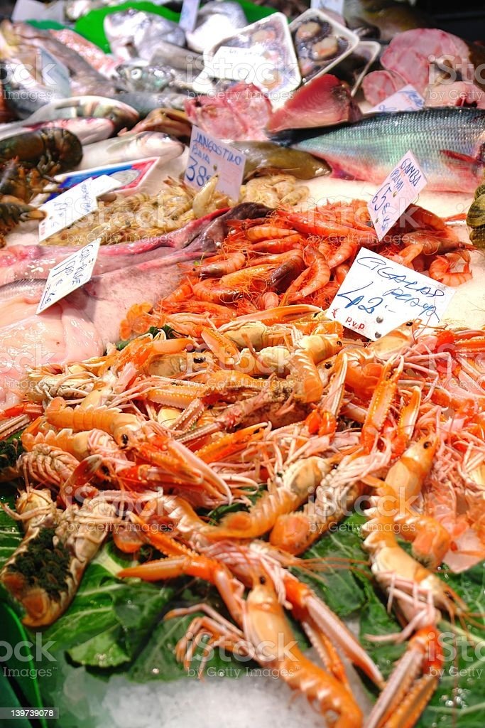 Seafood Market royalty-free stock photo