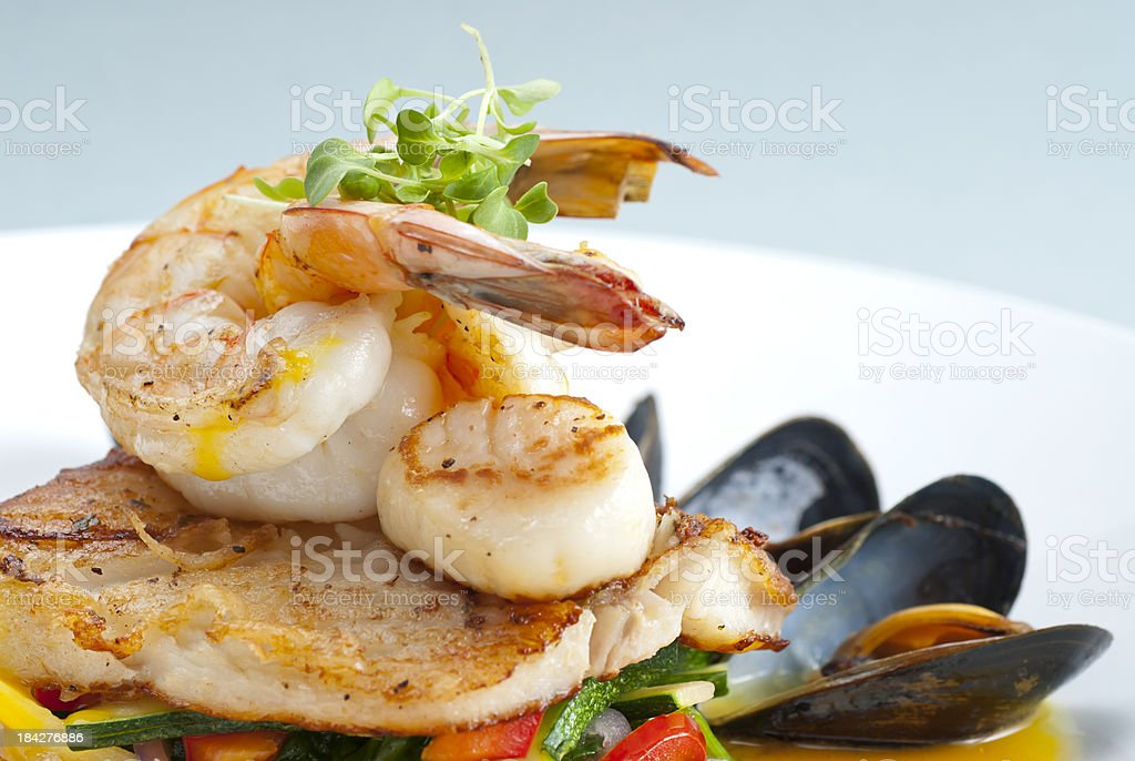 Seafood Medley royalty-free stock photo