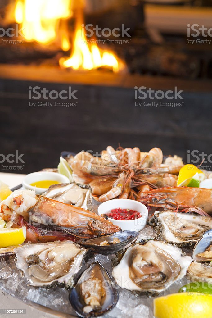 Seafood Mix stock photo