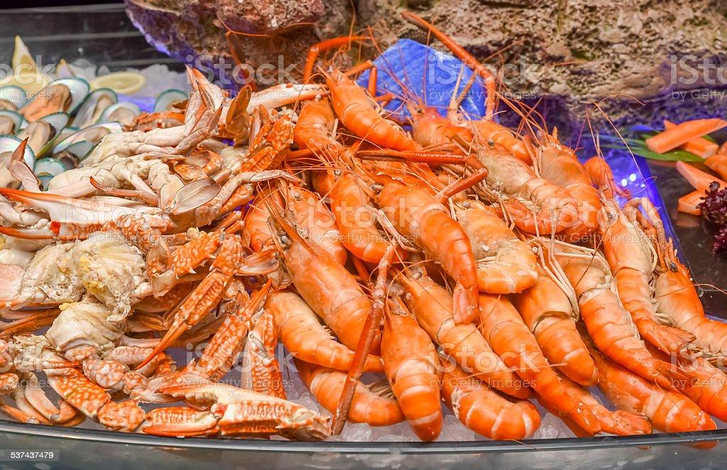 Seafood mix Seafood mix close-up 2015 Stock Photo