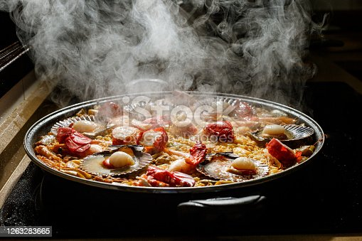 In Spain one of the typical dishes is paella. Among all types of paella, one of the tastiest is seafood paella.