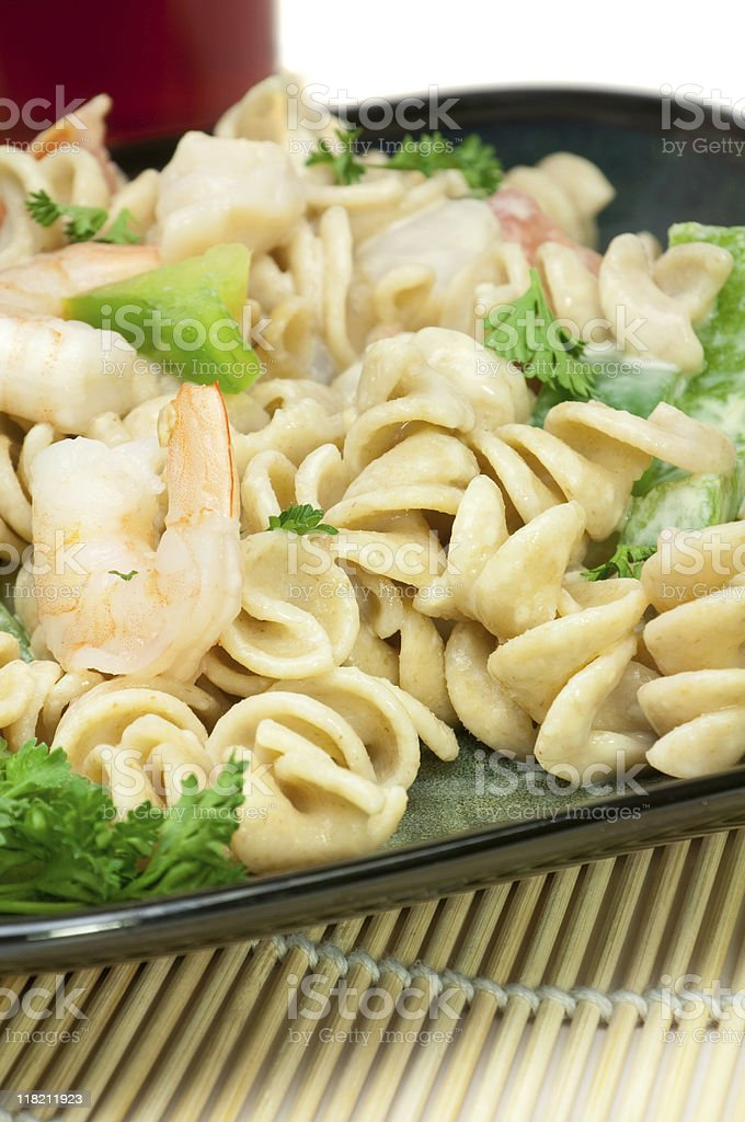Seafood Pasta Salad royalty-free stock photo