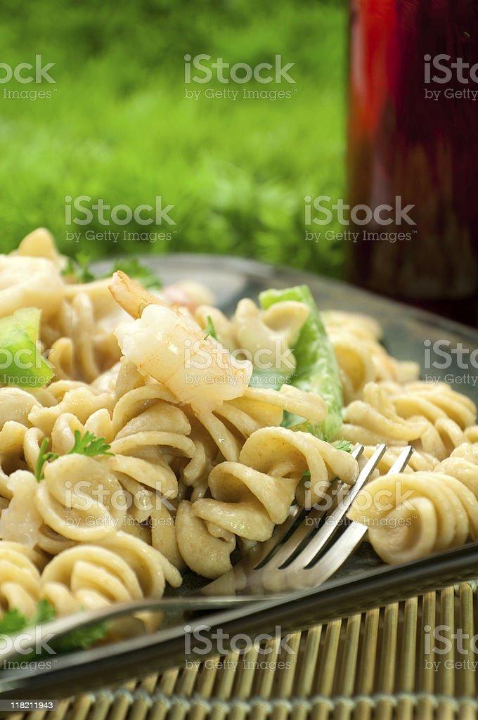Seafood Pasta Salad royalty-free stock photo