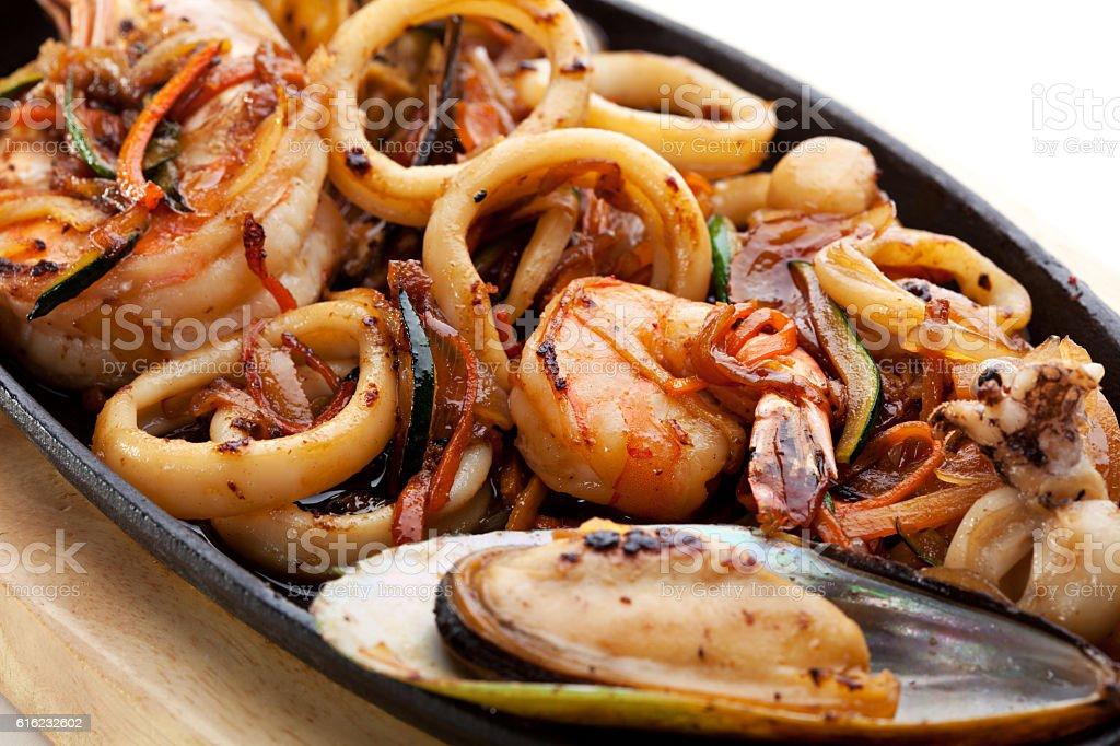BBQ Seafood stock photo