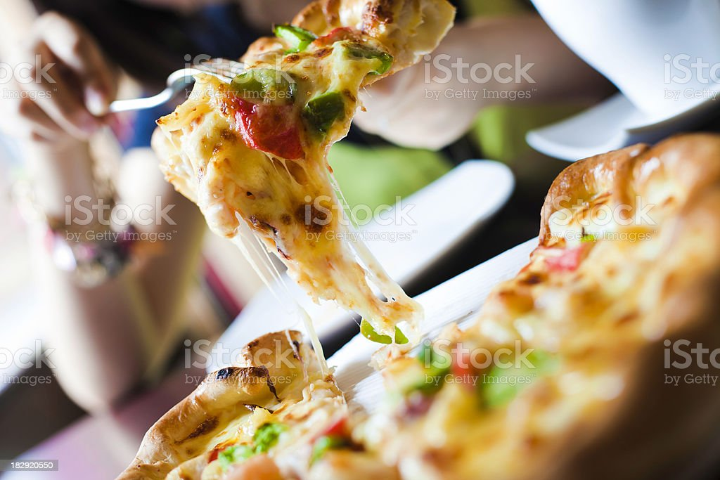 seafood pizza royalty-free stock photo