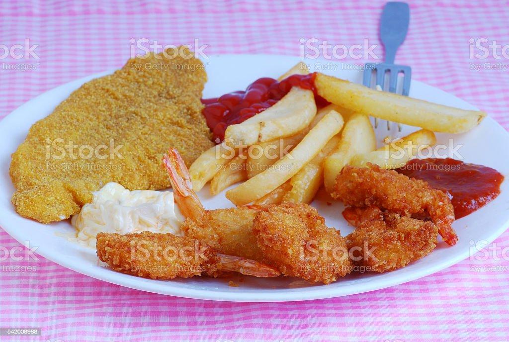 Prato de frutos do mar - foto de acervo