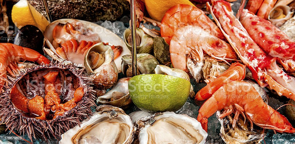 seafood platter close up royalty-free stock photo