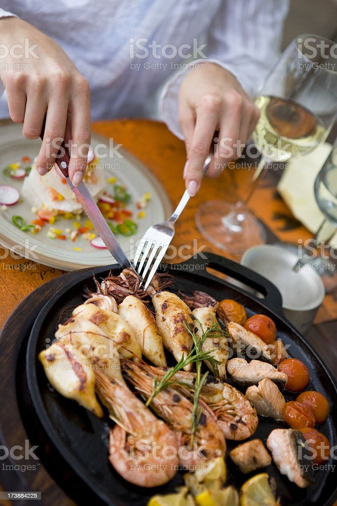 Seafood restaurant royalty-free stock photo