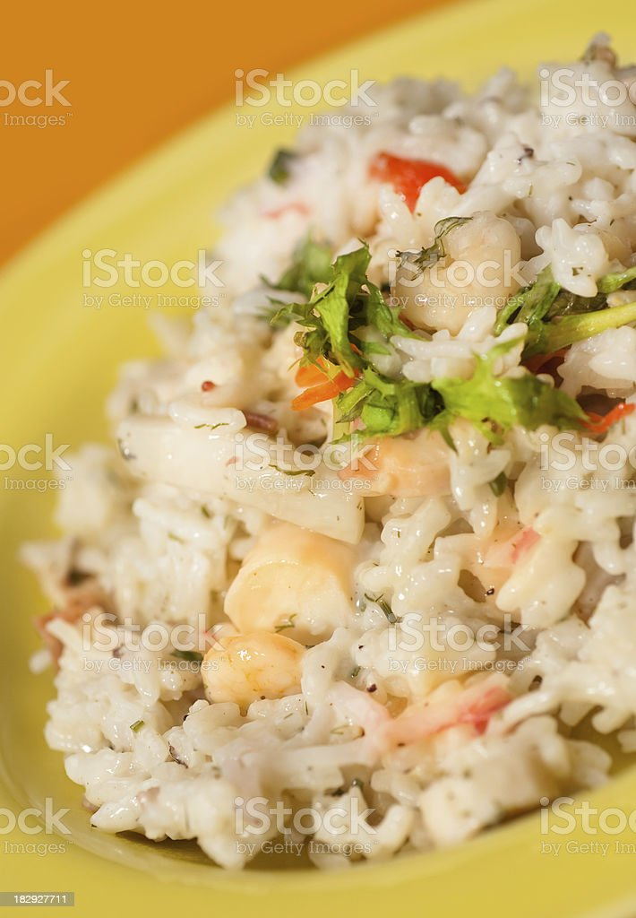 Seafood risotto stock photo