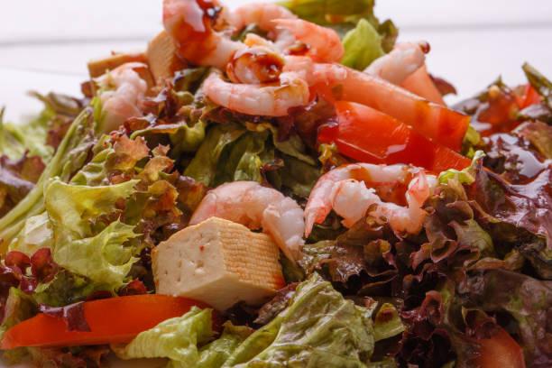 Seafood salad closeup with shrimps salad leaf croutons bulgarian and picture id858667392?b=1&k=6&m=858667392&s=612x612&w=0&h=xnuivjdzbi0rwojqwt xsscrsnshwfgvtjr3 nxbsiq=