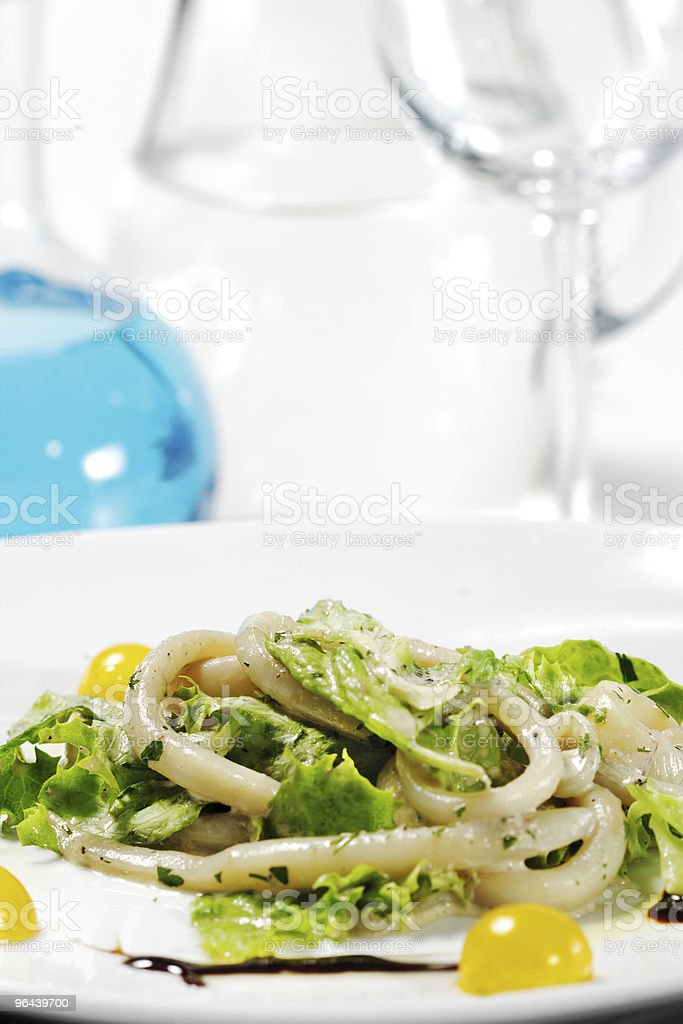 Seafood Salad - Royalty-free Blauw Stockfoto