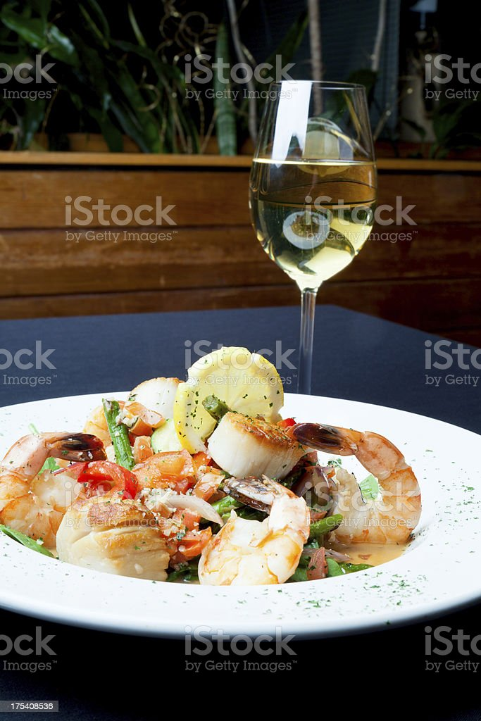 Seafood Scampi stock photo