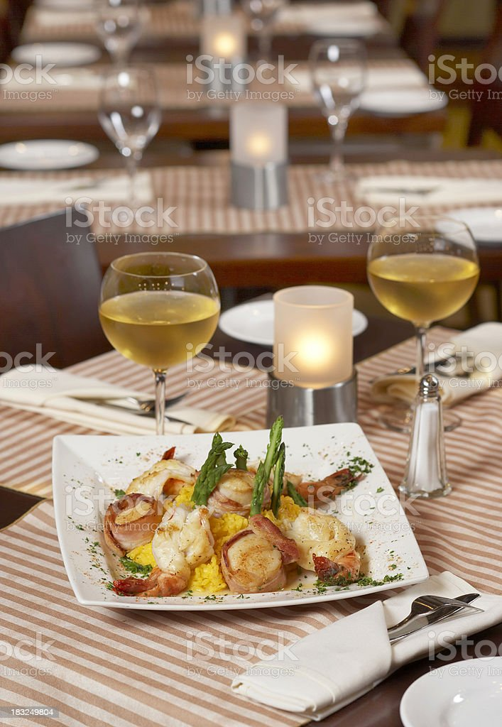 Seafood served. royalty-free stock photo