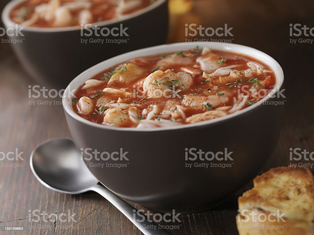 Seafood Soup stock photo