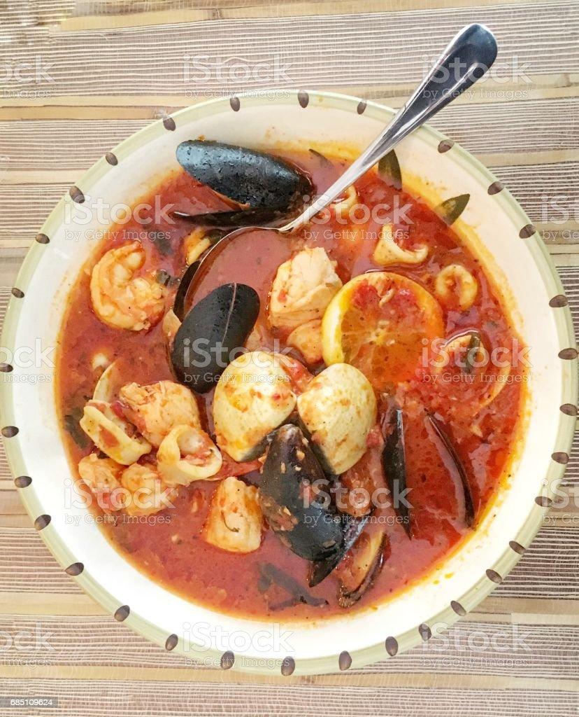 Meeresfrüchte-Suppe – Foto