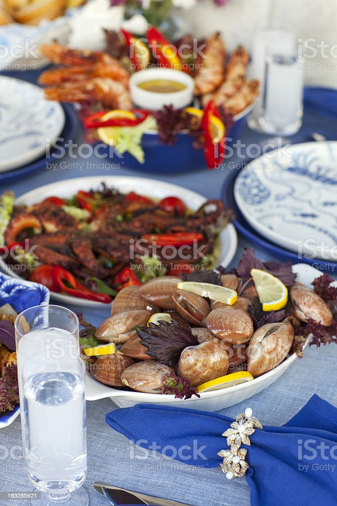 Seafood Table royalty-free stock photo