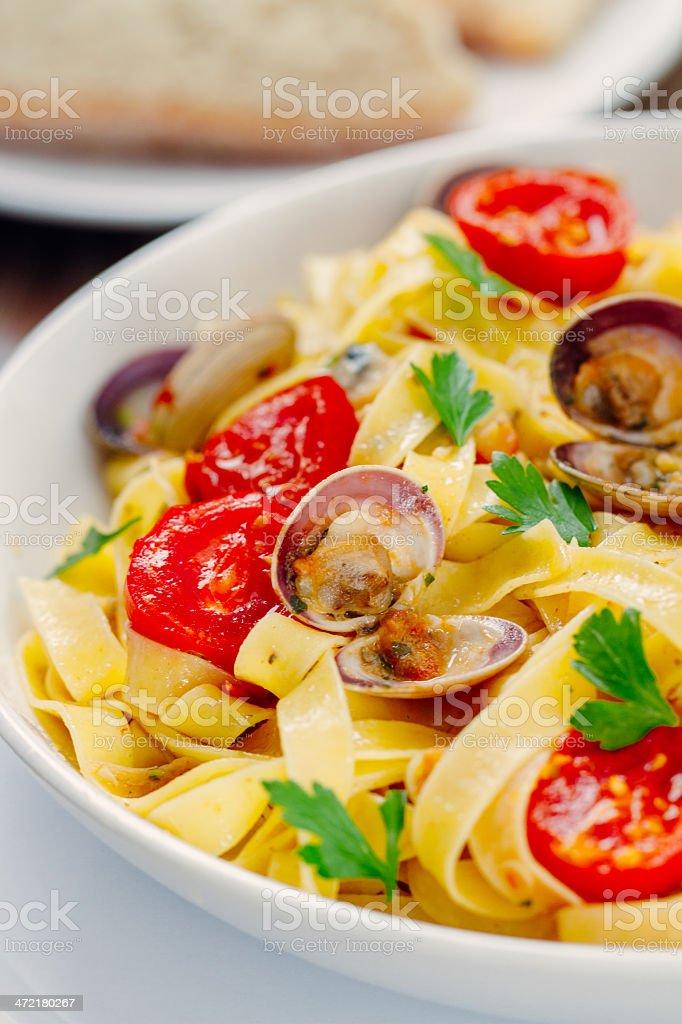 Seafood Tagliatelle royalty-free stock photo