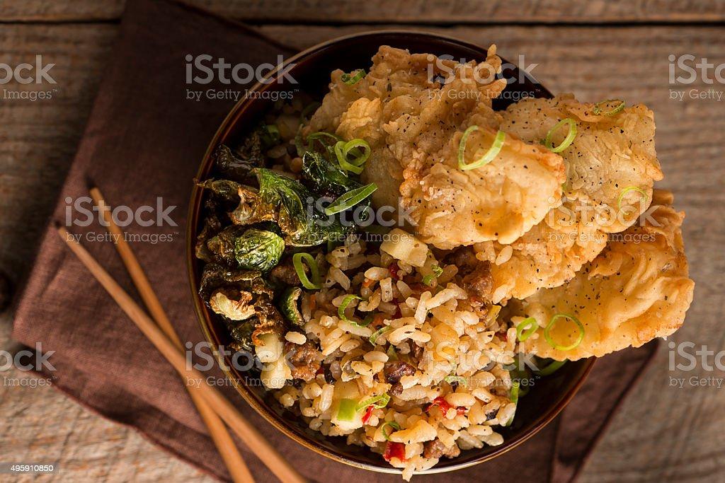 Seafood Tempura stock photo