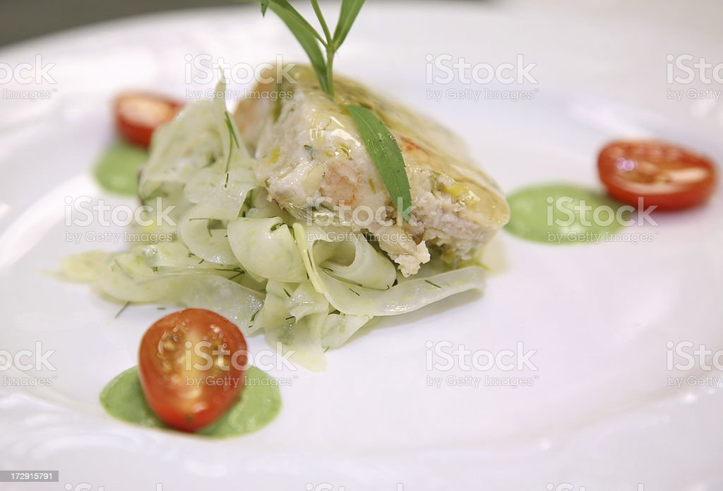 Seafood Terrine Details royalty-free stock photo