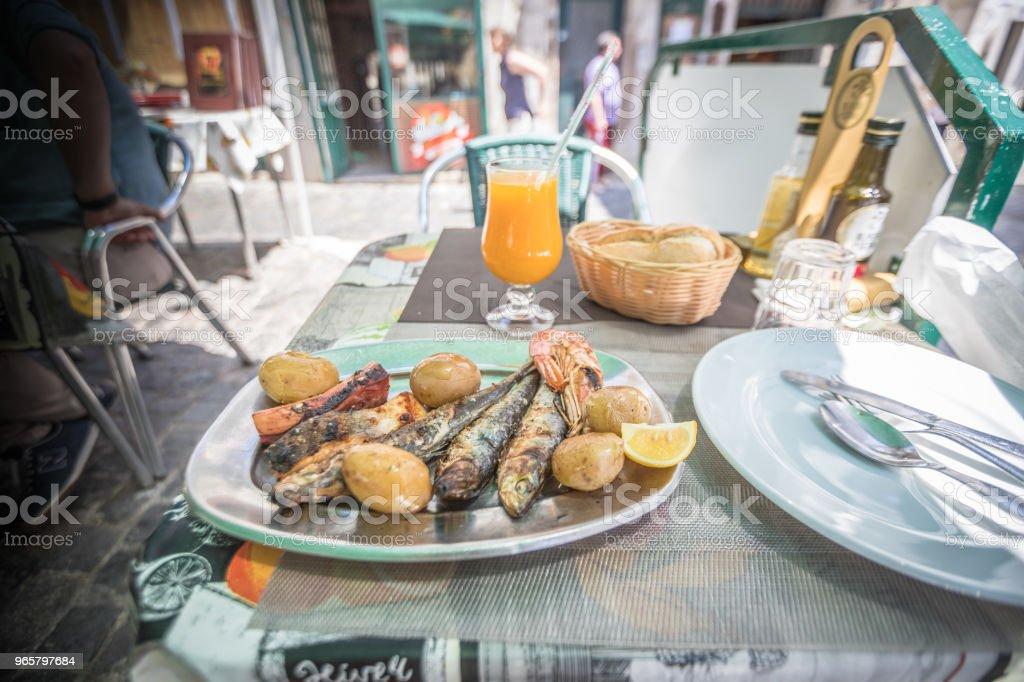 Schaaldieren en vis in Lissabon - Royalty-free 25 cent Stockfoto