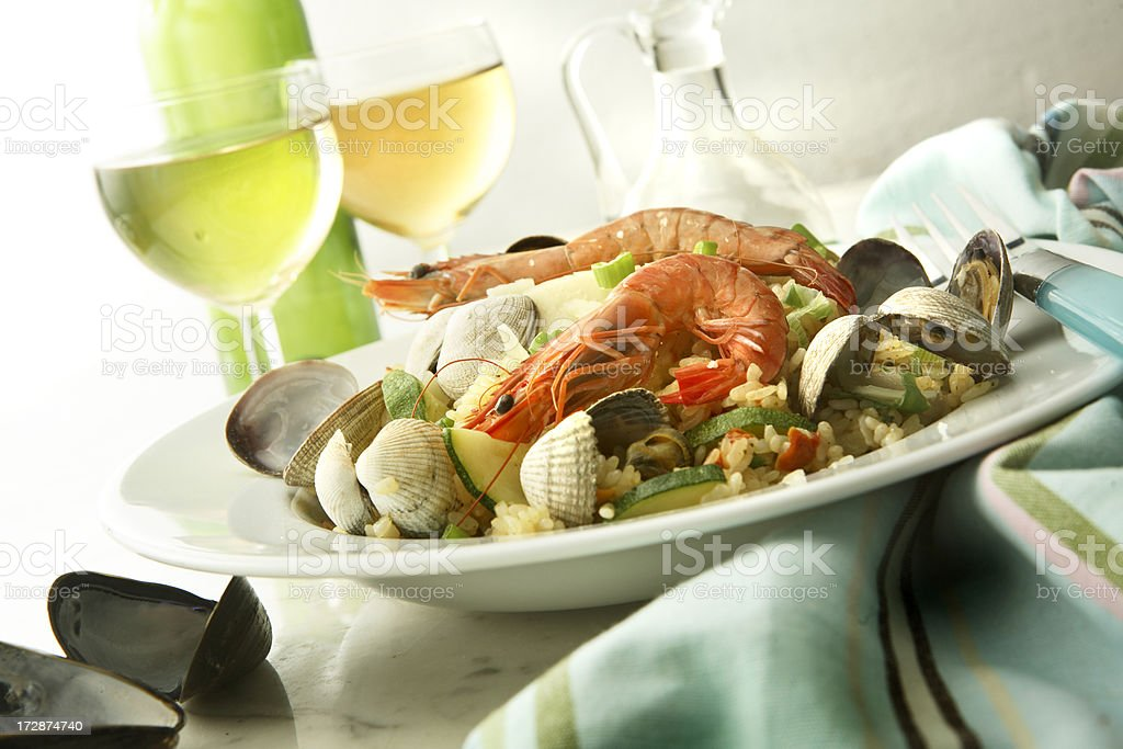 SeafoodStills: Risotto royalty-free stock photo