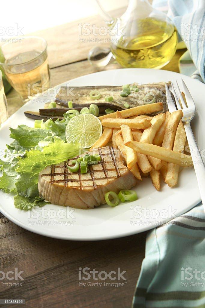 SeafoodStills: Tuna Steak royalty-free stock photo
