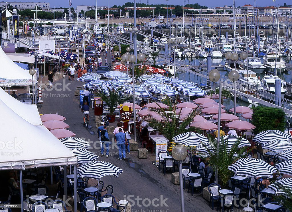 Seafront and Marina at Royan in France royalty-free stock photo