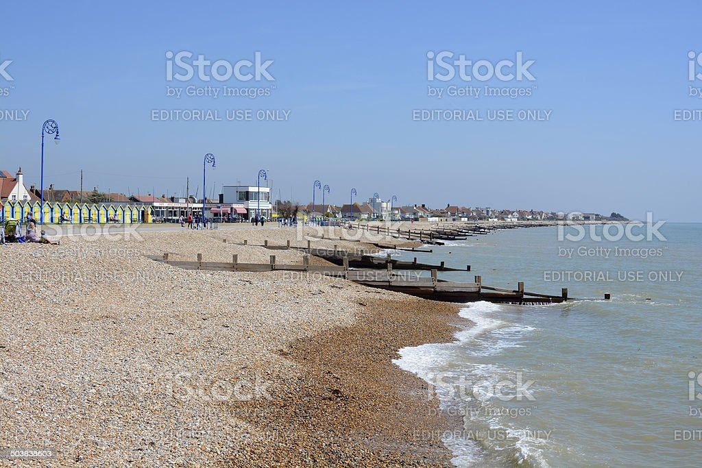 Nad brzegiem morza w Felpham.  Sussex.  Anglia – zdjęcie