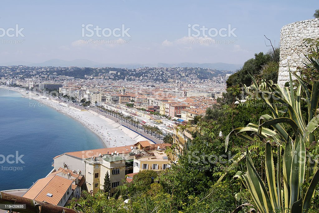 Seafront at Nice. Cote d'Azur. France royalty-free stock photo