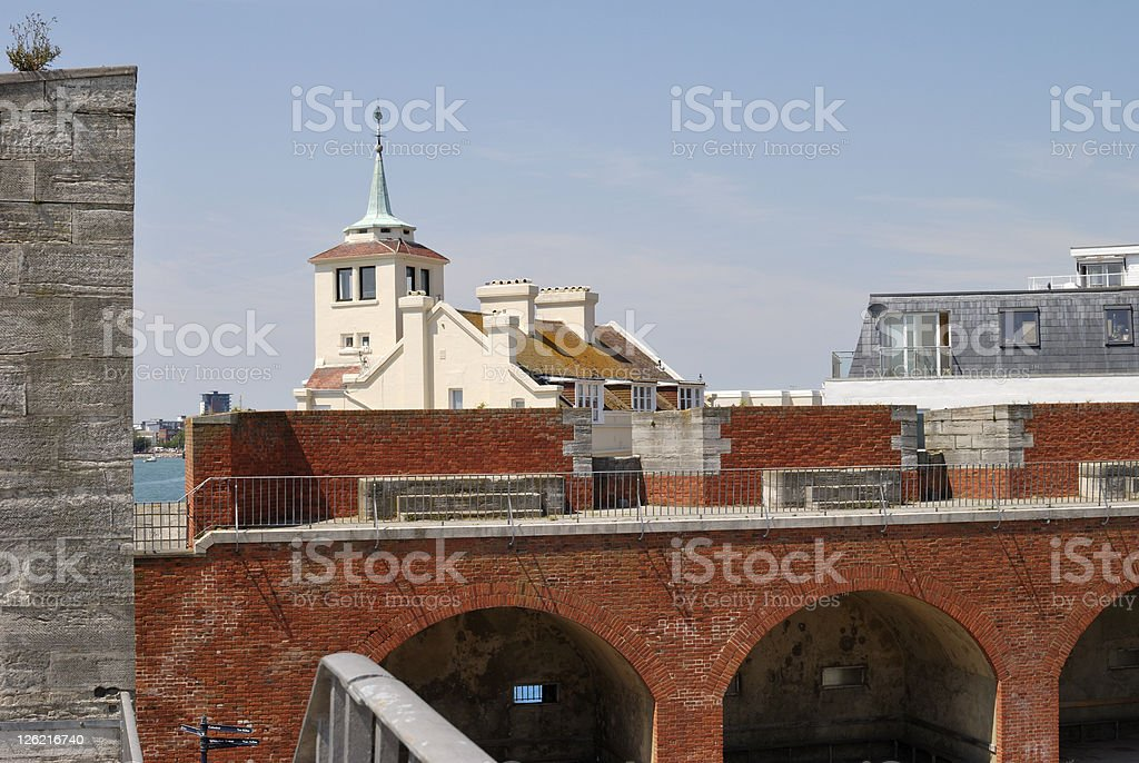 Seafront at Old Portsmouth. Hampshire. England stock photo