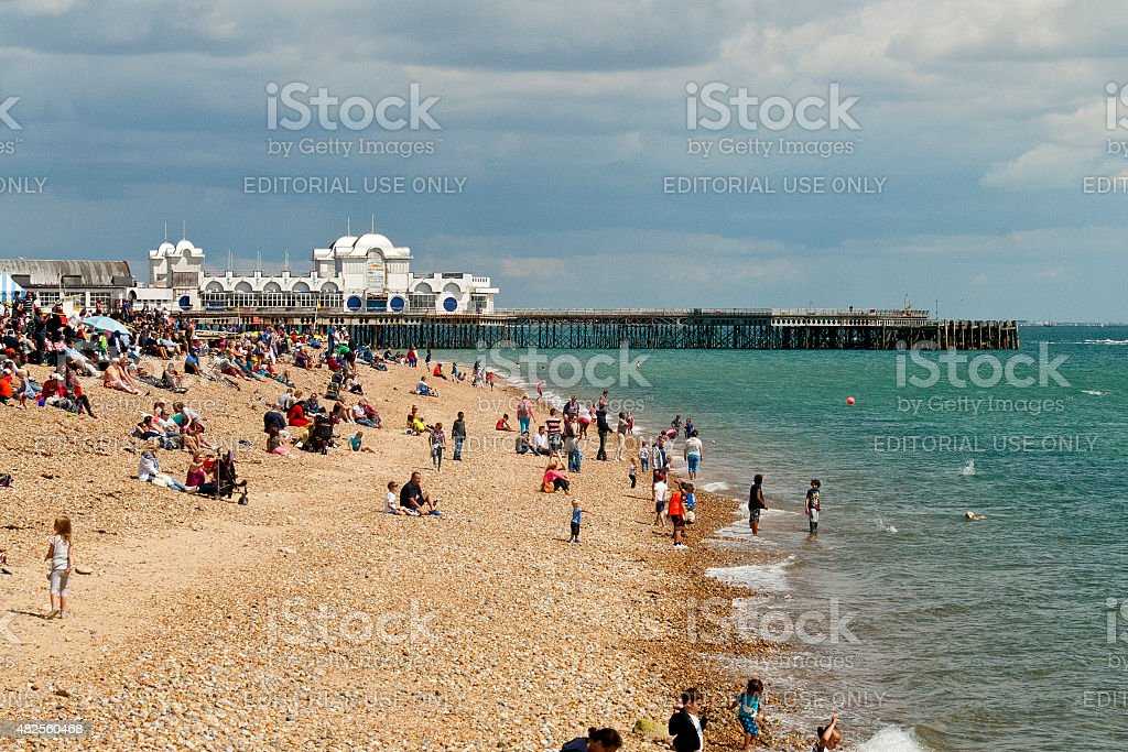 Seafront at Southsea, Portsmouth stock photo
