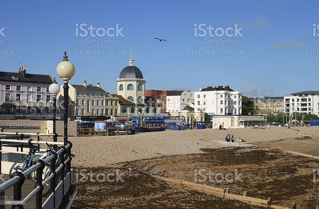 Seafront at Worthing. Sussex. England royalty-free stock photo