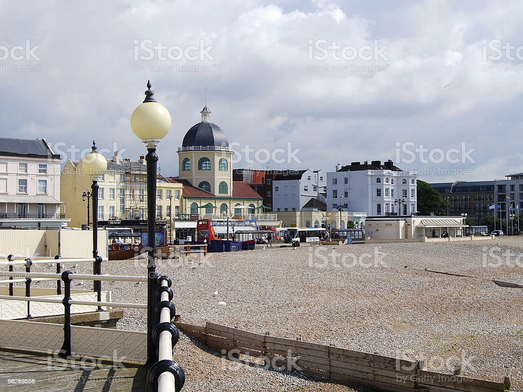 Seafront at Worthing, West Sussex, England royalty-free stock photo