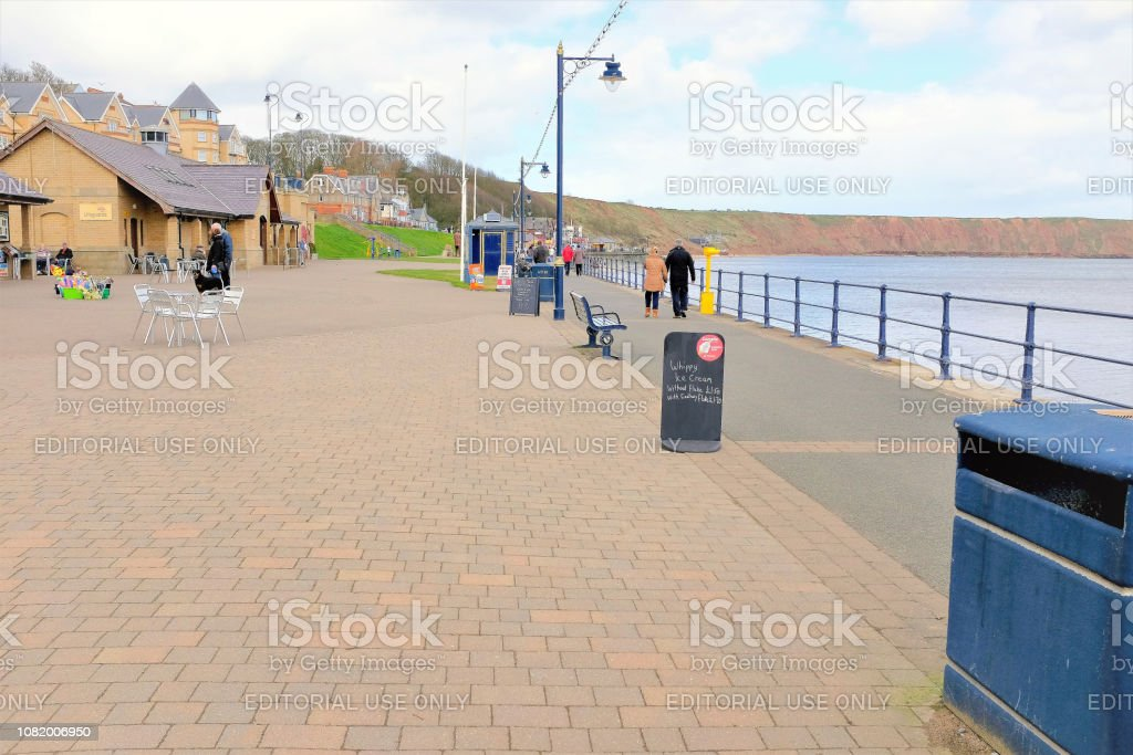 Seafront, Filey, Yorkshire. stock photo