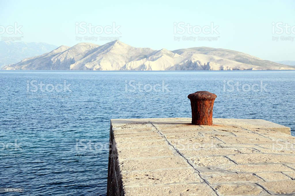 Seafront in Baska royalty-free stock photo