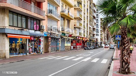 istock Seafront in Lloret de Mar in Spain 1178239039