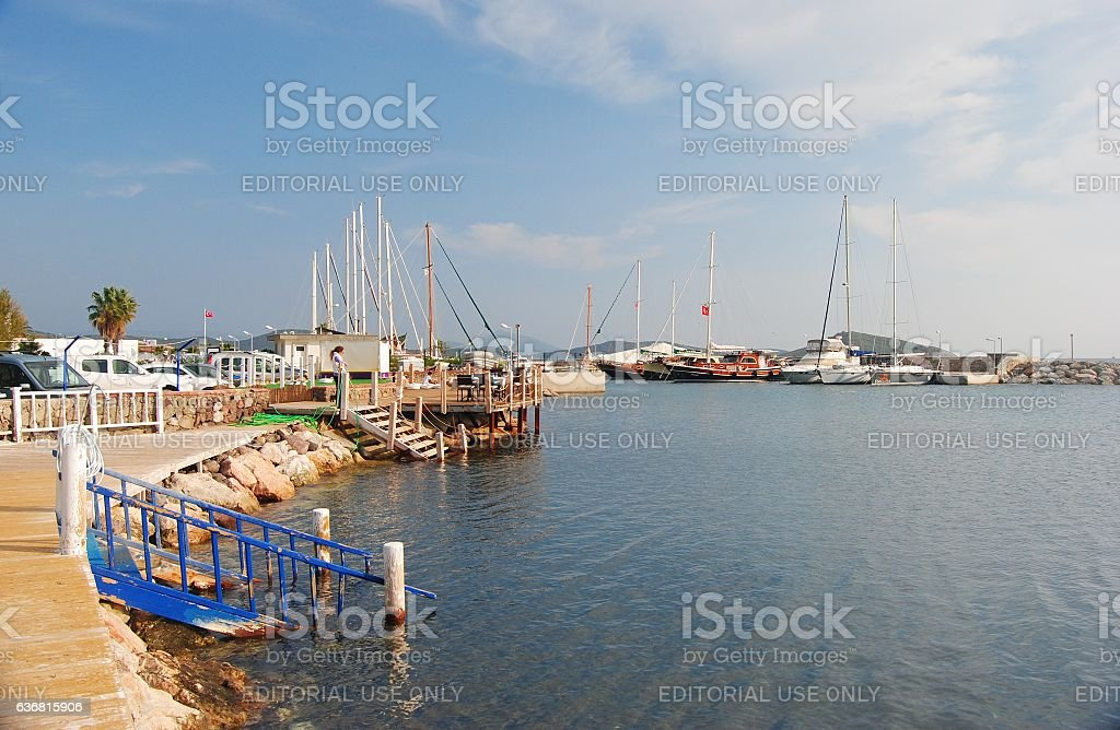 Seafront in Ortakent, Turkey. stock photo