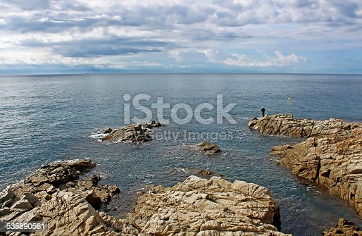 istock Seafront of Lloret de Mar in the morning 535890561