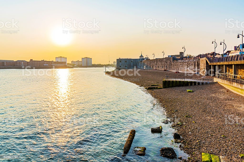 Seafront of portsmouth stock photo