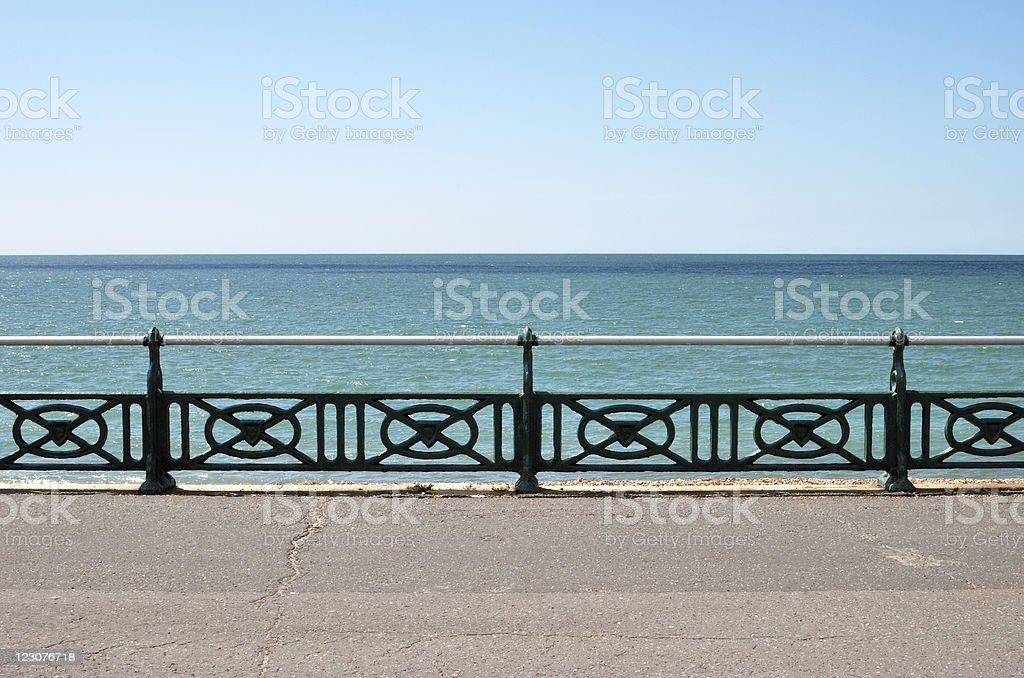 Seafront promenade. Brighton. UK stock photo