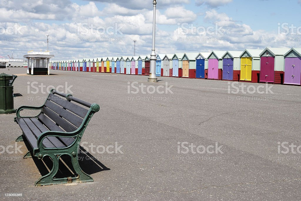 Seafront promenade. Hove. Sussex. England stock photo