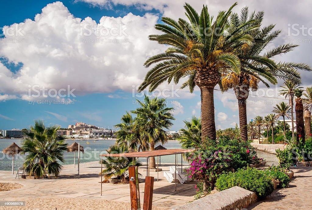 Seafront promenade stock photo