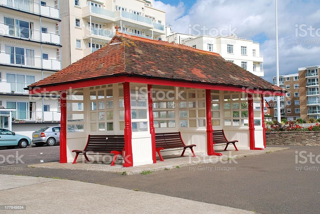Seafront shelter, Bexhill royalty-free stock photo