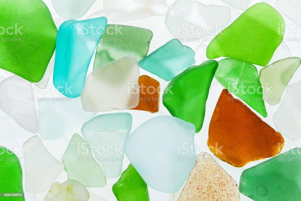 seaglass stones background stock photo