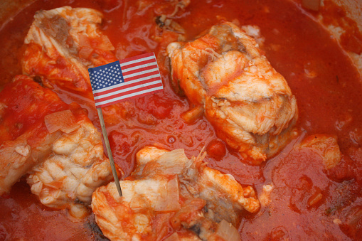 istock Sea-goat cooked in Armorican sauce 1133807978