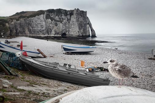 Etretat beach in Normandy, France