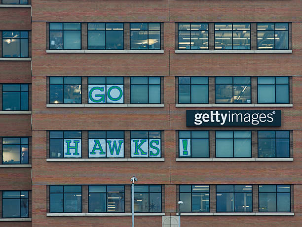 seahawks фанаты в getty images - getty images стоковые фото и изображения