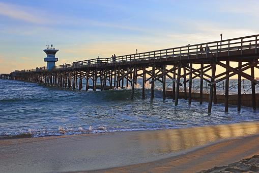 Seal Beach, CA pier at sundown